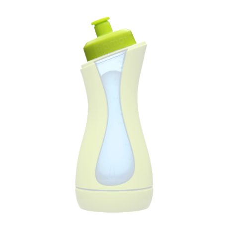 iiamo drink drinking spout green (prod no 402) on iiamo go self-heating baby bottle green-blue 106
