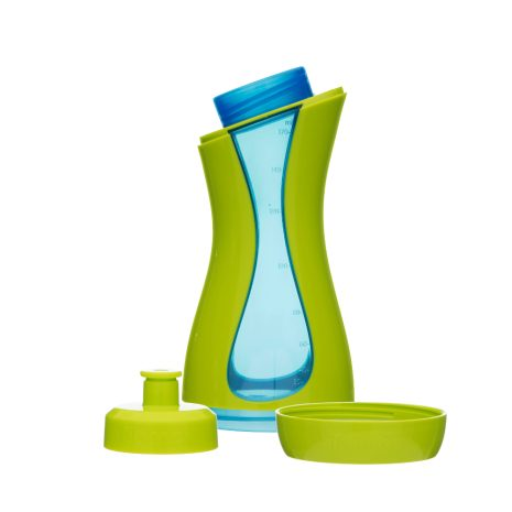 iiamo sport sportsbottle and drinking bottle in green and blue