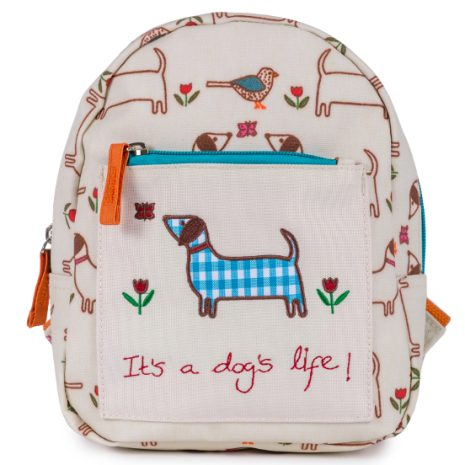 mini backpack for boys and girls by Pink Lining  - it's a dog's life
