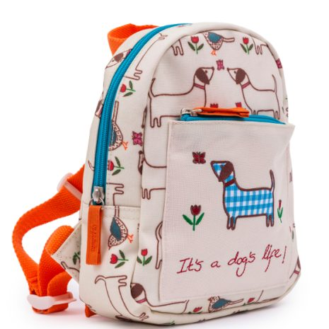 Pink Lining Mini Rucksack for gilrs and boys - It's a dog's life