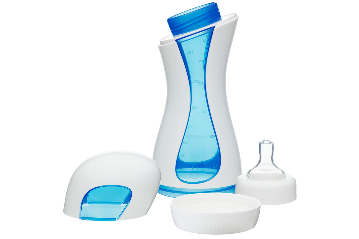 all parts of the hygienic iiamo home baby feeding bottle