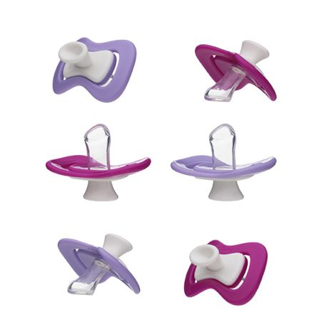 6 iiamo peace soothers in pink and purple - discountpack