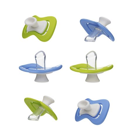 6 iiamo peace soothers in blue and green - discountpack