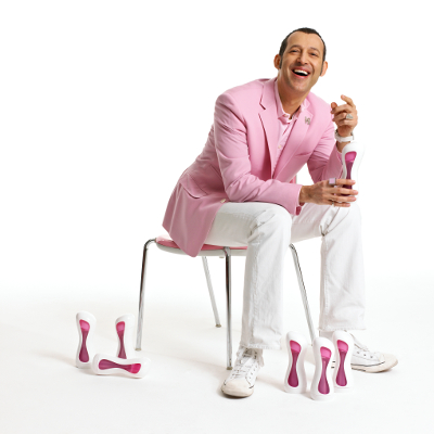 Karim Rashid the designer of the iiamo go baby bottles