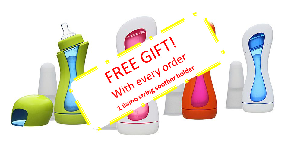 one free iiamo string for every iiamo order also the self-heating iiamo go baby bottle